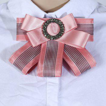 Multilayered Bow Tie Brooch - PINK