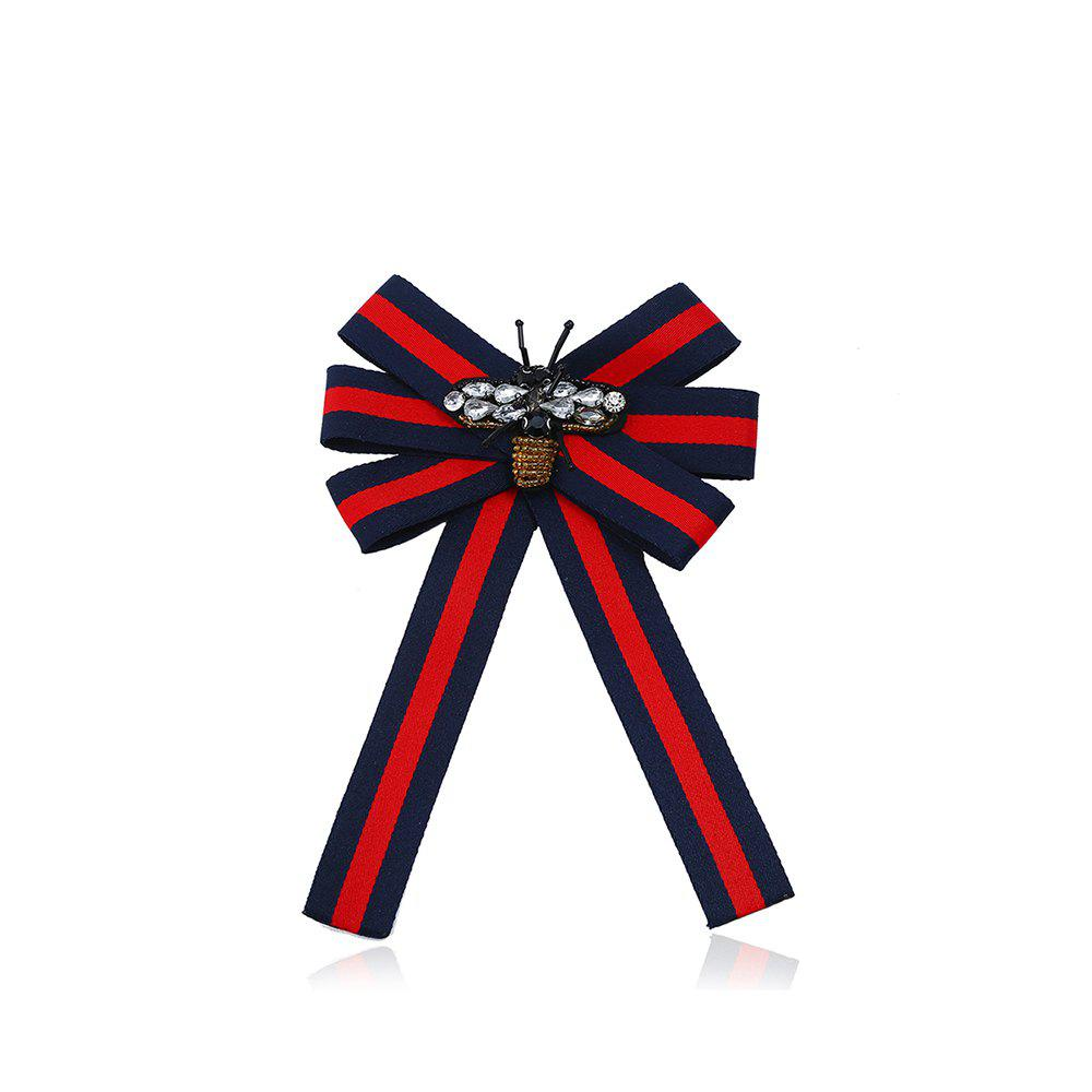 Fine Necktie Brooch Double Use Accessories - RED