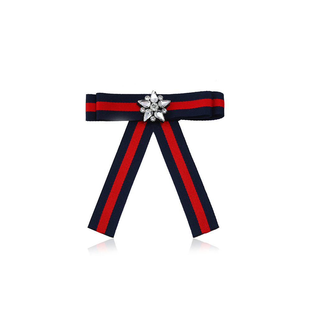 Star Fashion Tie Brooch Hair Ornament - ROYAL
