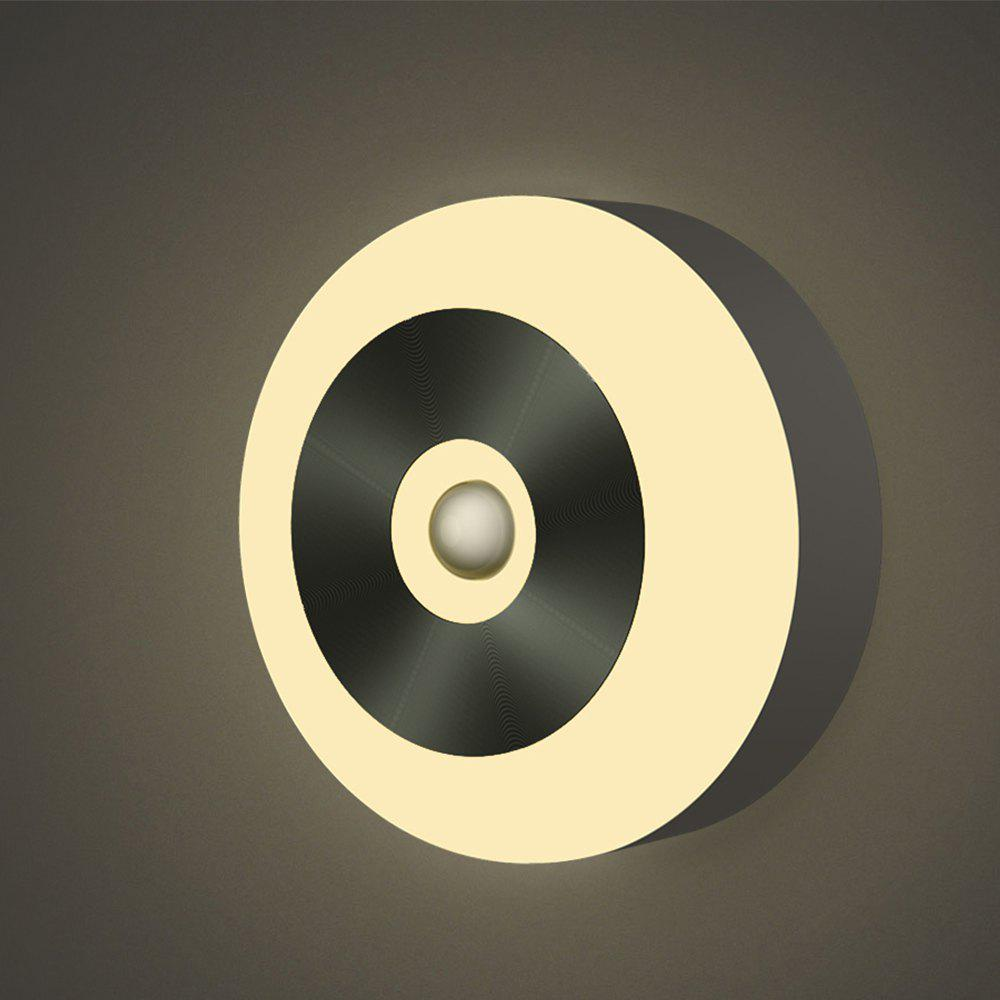 Infrared Motion Sensor 6 Led Night Light Wireless Detector Light Wall Closet Battery Power - WARM