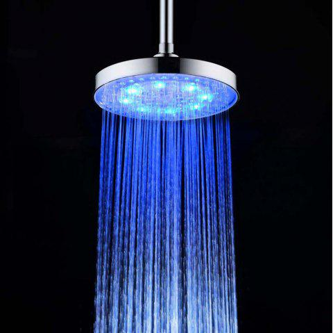 BRELONG 8 inch LED Single Color Shower Round Red Green Blue - BLUE