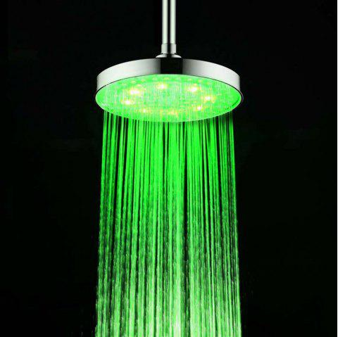 BRELONG 8 inch LED Single Color Shower Round Red Green Blue - GREEN