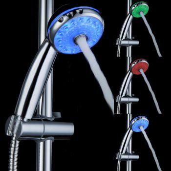 BRELONG LED Shower Head Can Adjust The Water Temperature Multi-functional Three-color Nozzle - RGB