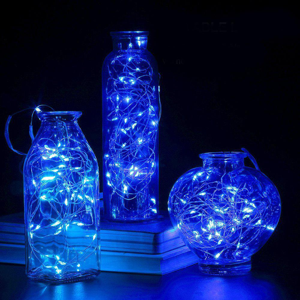 BRELONG 20LED Copper Wire String Lights for Christmas Indoor Decorations 1pcs - BLUE