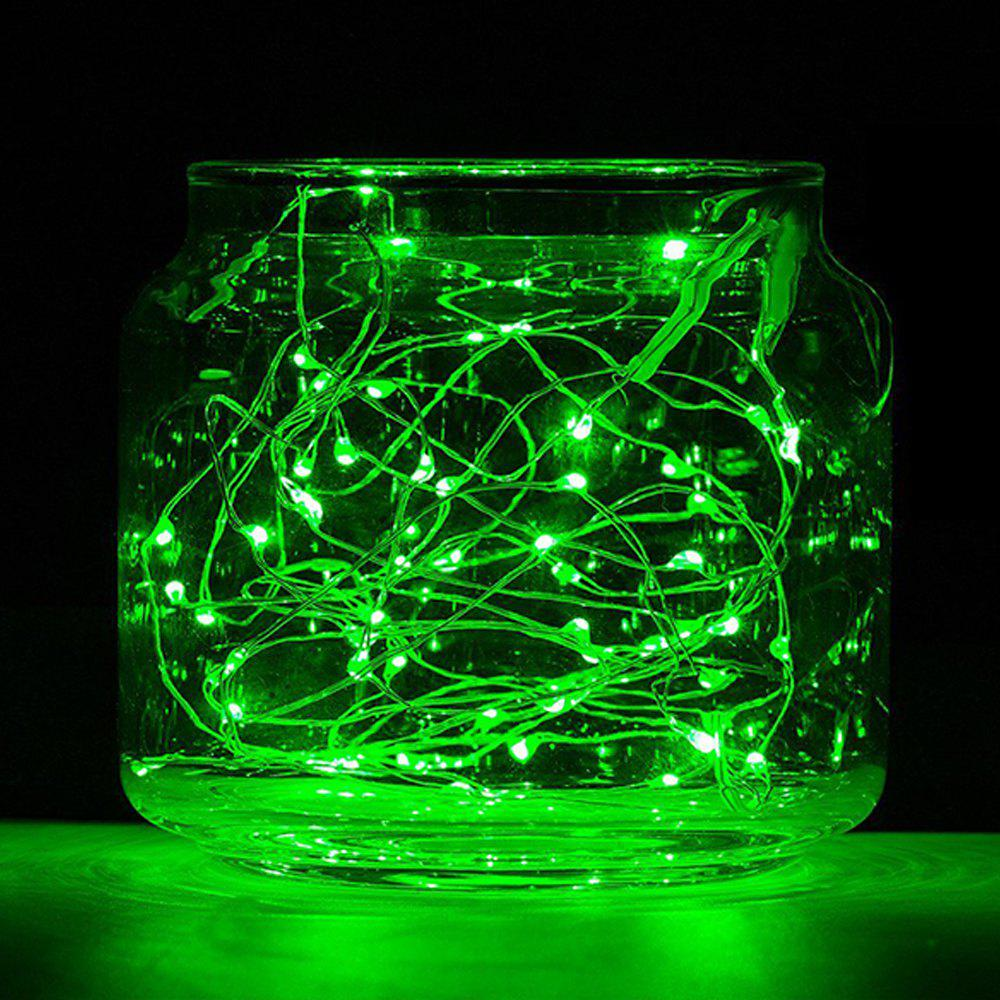 BRELONG 20LED Copper Wire String Lights for Christmas Indoor Decorations 1pcs - GREEN