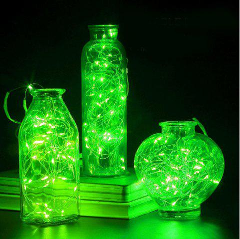 BRELONG 10LED Copper Wire String Lights for Christmas Indoor Decorations 1pc - GREEN