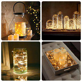 BRELONG 10LED Copper Wire String Lights for Christmas Indoor Decorations 1pc - WARM WHITE
