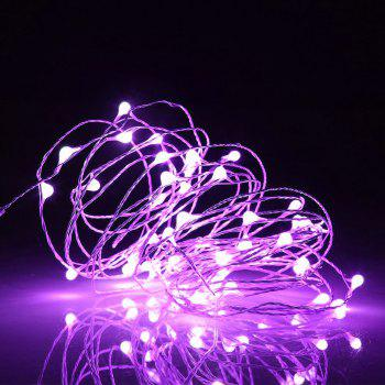 BRELONG 10LED Copper Wire String Lights for Christmas Indoor Decorations 1pc - PURPLE