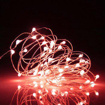 BRELONG 10LED Copper Wire String Lights for Christmas Indoor Decorations 1pc - RED