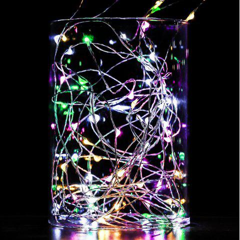BRELONG 10LED Copper Wire String Lights For Christmas Indoor Decorations 8pcs - RGB
