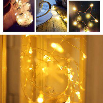 BRELONG 10LED Copper Wire String Lights For Christmas Indoor Decorations 8pcs - WARM WHITE