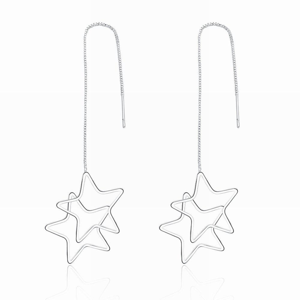 Creative Star Shape Long Drop Earrings Charm Jewelry