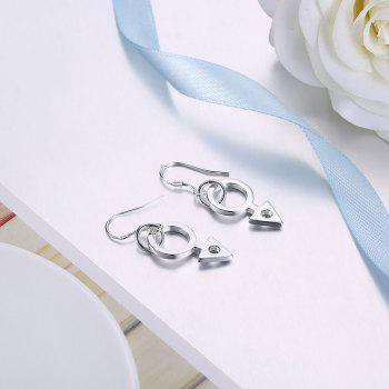 Fashion Silver Plated Drop Earrings Charm Jewelry Gift For Women - SILVER