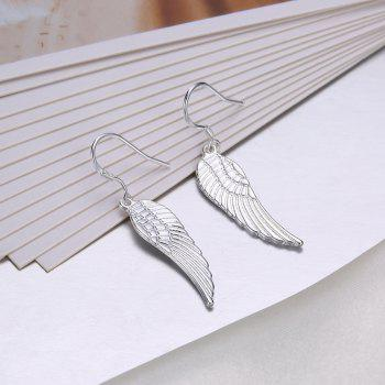 Fashion Hollow Out Wing Drop Earrings Graceful Jewelry - SILVER