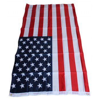150X90CM High Quality Double-Sided Printed Polyester American Flag Ring - COLORMIX