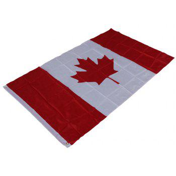 Hot Canadian Flag World Cup Activities Parade Festival Celebration 90X150CM Home Decoration - COLORMIX