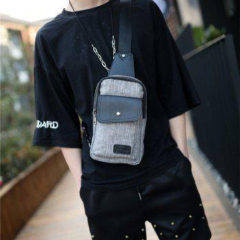 New Korean Men Crossbody Bag Sling Chest Pack Unbalance Backpack - GRAY