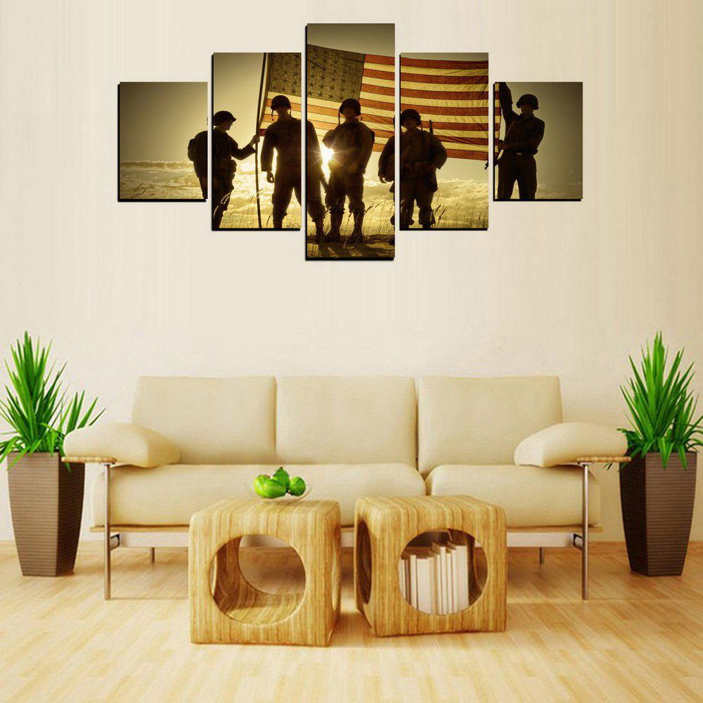 2018 MailingArt FIV430 5 Panels Army Wall Art Painting Home Decor ...