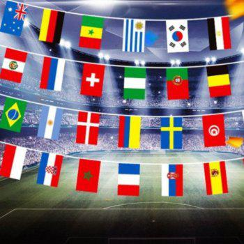 2018 FIFA World Cup Russia Soccer Football Fabric Bunting Banner String Flags - multicolorCOLOR