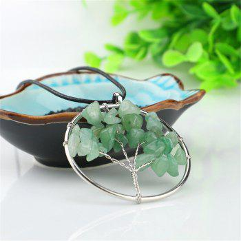 Natural Green Tang Ling Necklace Energy Stone - IVY