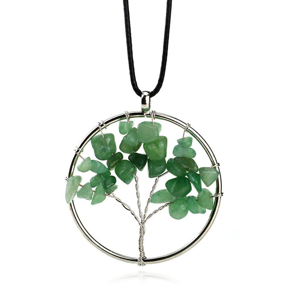 Collier vert naturel Tang Ling Energy Stone - Lierre