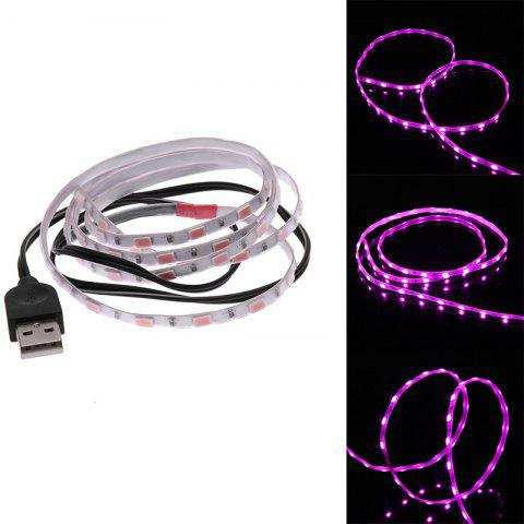 LED Strip Light Waterproof 1.5M SMD 5630 60LEDS TV Decoration with USB Cable - PINK LIGHT