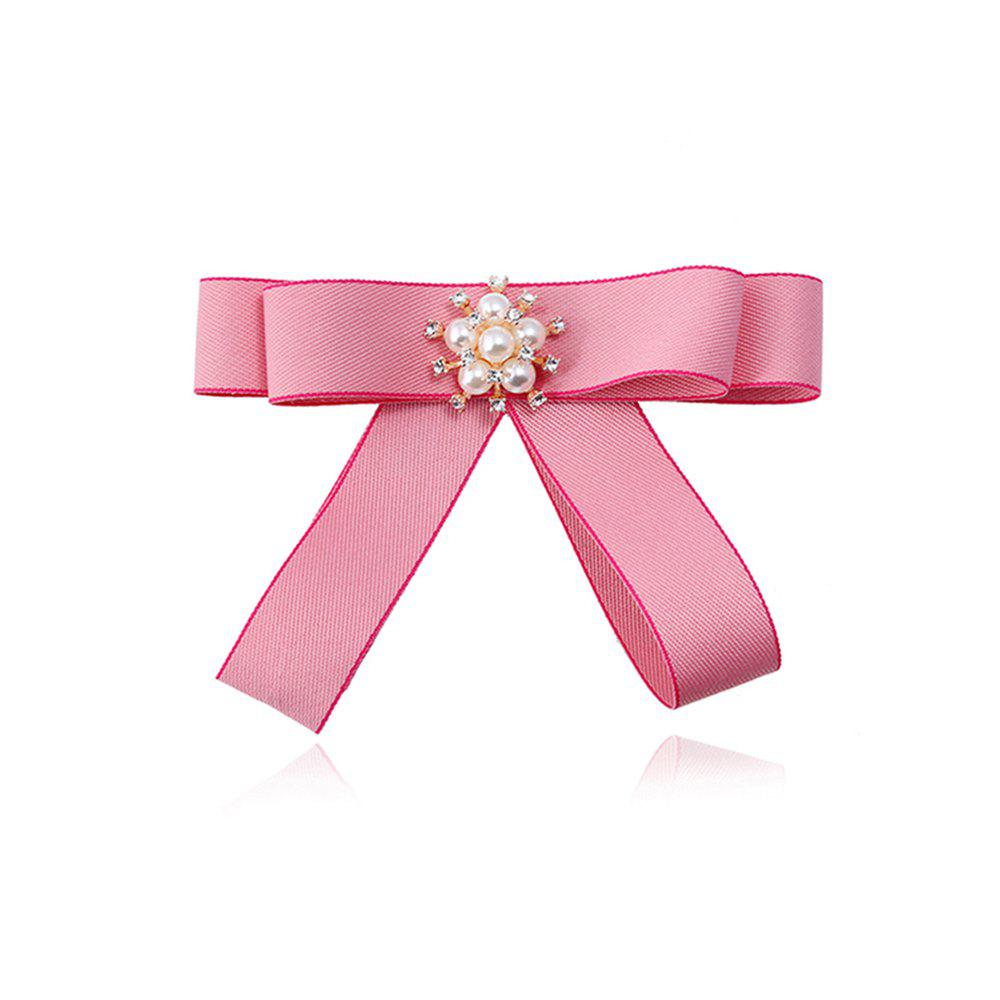 Simple Fashion Tie Hair Brooch - PINK