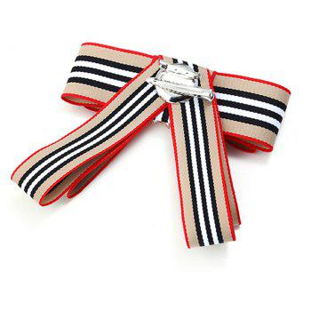 Campus Fashion All-Match Bowties Brooch - BEIGE DOUBLE