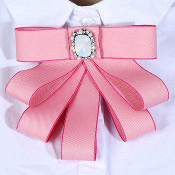 College Wind Bow Tie Brooch - PINK