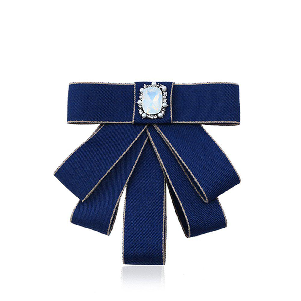 College Wind Bow Tie Brooch - ROYAL