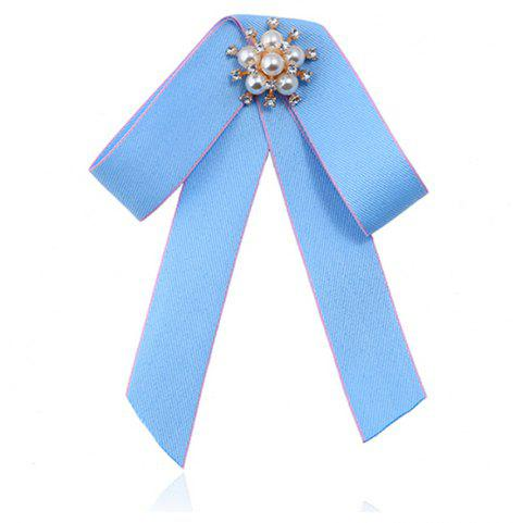 Double broche Bow All-match Mode exquise - Azur