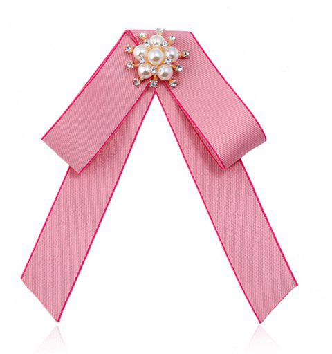 Double broche Bow All-match Mode exquise - Rose