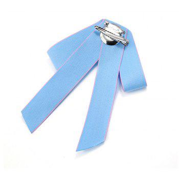 Double Bow Brooch All-match Exquisite Fashion - AZURE