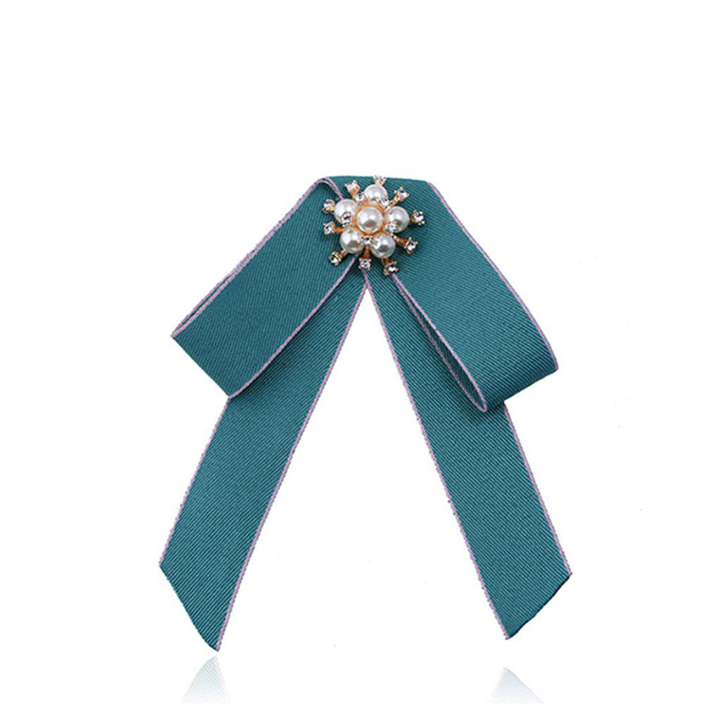 Double broche Bow All-match Mode exquise - Lierre