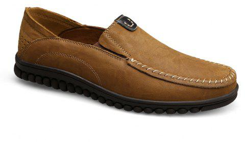 ZEACAVA Men Casual Business Mocassins à semelle souple à la main - Kaki 39