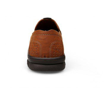 ZEACAVA Men Casual Business Mocassins à semelle souple à la main - Brun C Style 42