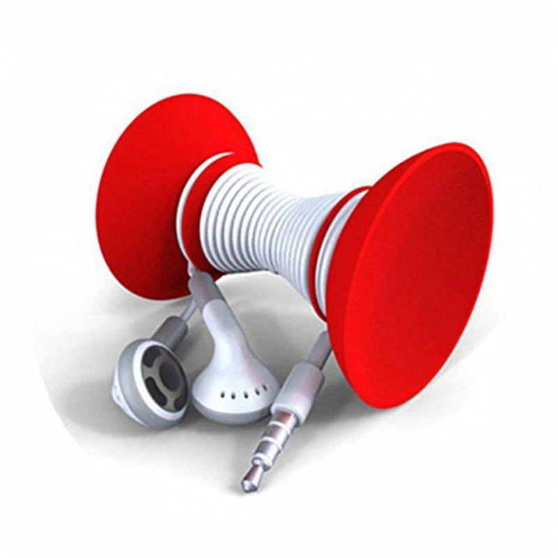 Silicon Double-sided Suction Cup Holder Sucker Stand For Mobile Phone - RED