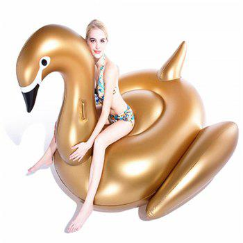 Giant Swan Inflatable Pool Float Row Water Fun Toy - GOLDEN