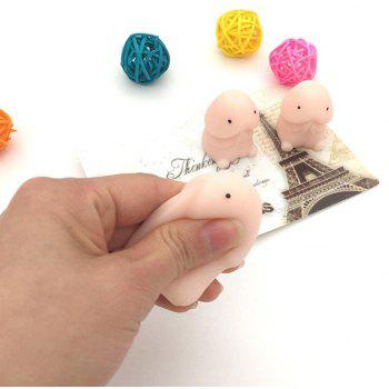 Novelty Jumbo Squishy Kawaii Stress Reliever Super Soft Squeeze Slow Rising Healing Reducer Stretchy Decompress Toy - PINK