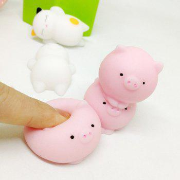 Kawaii Jumbo Squishy Toys Cats and Pigs Healing Toys Stress Reliever Toy for Kids Adults 6PCS - COLORMIX