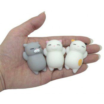 Kawaii Jumbo Squishy Cute Cats Paw Mini Animal Healing Stress Reliever Toy for Kids Adults 4PCS - COLORMIX