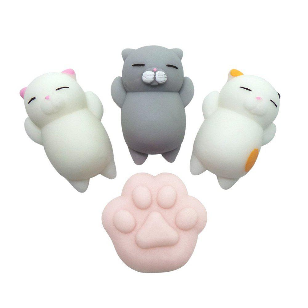Kawaii Jumbo Squishy Cute Cats Paw Mini Animal Healing Stress Reliever Toy for Kids Adults 4PCS funny cute mini cartoon tpr animal jumbo squishy toy