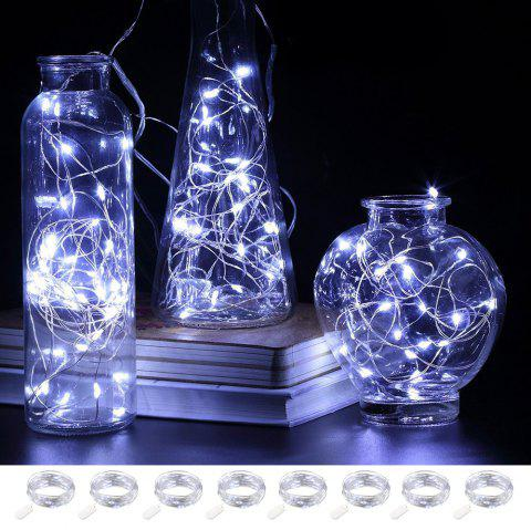 BRELONG 2m20LED Copper Wire String Lights for Christmas Indoor Decorations 8pcs - WHITE
