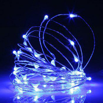 BRELONG 2m20LED Copper Wire String Lights for Christmas Indoor Decorations 8pcs - BLUE