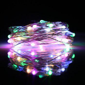 BRELONG 2m20LED Copper Wire String Lights for Christmas Indoor Decorations 8pcs - RGB