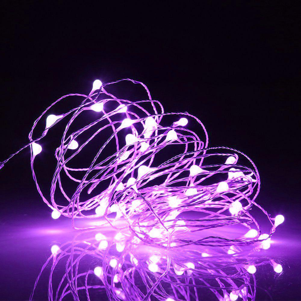 BRELONG 2m20LED Copper Wire String Lights for Christmas Indoor Decorations 8pcs - PURPLE