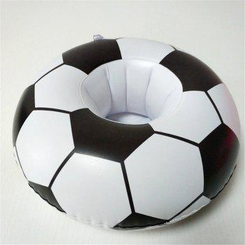 Hot High-Quality Mini-Inflatable Floating Soccer Cup Holder - COLORMIX