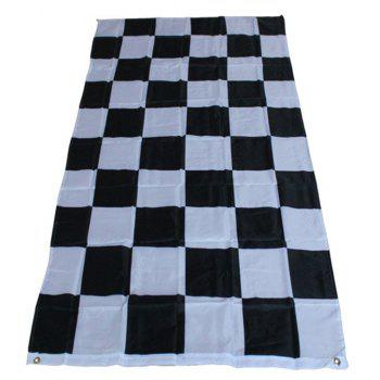 Hot 90X150 Cm Black and White Grid Racing Flags Car Stickers Fashion Home Decoration - COLORMIX