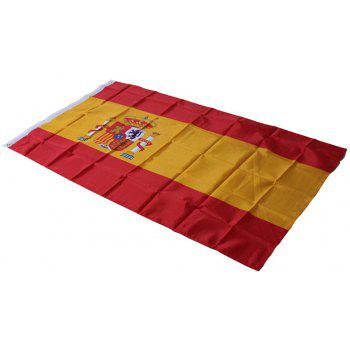 90X150CM Spanish Flag 3X5 Feet Super Poly Football Banner Indoor Outdoor Polyester - COLORMIX