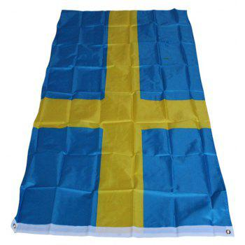 Sweden Flag Polyester National Office Event Parade Festivals Home Decor New Fashion - COLORMIX